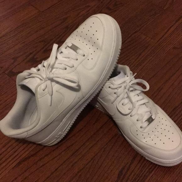 Nike Air Force 1, white-on-white, US Men's 11.5